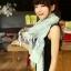 ผ้าพันคอวินเทจ ลาย Porcelian : ผ้าพันคอ Viscose 170 x 80 cm สีเขียว Mint thumbnail 3