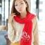 ผ้าพันคอแฟชั่น Cotton Candy : สี Red thumbnail 4