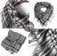 ผ้าพันคอชีมัค Shemash : สีขาวดำ size 100 x 100 cm thumbnail 4