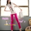 SKINNYฮิตฮอตแฟชั่นเกาหลีเก๋สุดๆPB198 ClassicSkinny กางเกงสกินนี่ Skinny ผ้ายืดเนื้อหนา ผ้านิ่ม รุ่นนี้ทรงสวยใส่สบาย ไม่มีไม่ได้แล้ว สีชมพู ไซส์ S thumbnail 1