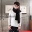 ผ้าพันคอผู้ชาย Man scarf ผ้า cashmere 180x30 cm - สี Black thumbnail 8