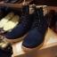 รองเท้าผู้ชาย | รองเท้าแฟชั่นชาย Dark Navy Boots หนังนูบัคแท้ thumbnail 1