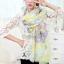 ผ้าพันคอวินเทจ Pastel scarf สีเหลืองม่วง - ผ้าพันคอ Viscose - size 180x110 cm thumbnail 4