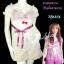 #หมด# <แบบสาวเกรซ>TB131X ::Babydoll Lace ใหม่! เสื้อแขนตุ๊กตาผ้าลูกไม้เกาหลี ผูกโบใต้อก สีขาวชมพู thumbnail 1