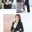 เสื้อสูทคลุมผู้หญิงแขนยาวสีดำ เรียบๆ thumbnail 3