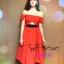 แบบสาวชมพู่ Self portrait red sexy dress ATA485 เดรสสไตล์แบรนด์ดัง self portrait สีแดงสวยแจ่มมากใส่แบบไหล่ตกหรือพาดไหล่แบบชมพู่โชว์เอวนิดๆ stock565 thumbnail 3