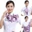 ผ้าพันคอสำเร็จรูป ผ้ายูนิฟอร์ม uniform ผ้าไหมซาติน : L135 thumbnail 3