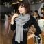 ผ้าพันคอไหมพรม ผ้า cashmere scarf 180x30 cm - สี light Grey thumbnail 5