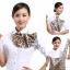 ผ้าพันคอสำเร็จรูป ผ้ายูนิฟอร์ม uniform ผ้าไหมซาติน : L197 thumbnail 2