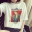 เสื้อยืดแฟชั่น ผ้าคอตตอนนุ่มๆ Oversize สไตล์เกาหลี 167(A)