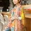 ผ้าพันคอลายดอกไม้ Blossom Bloom : Light Pink ผ้า Viscose size 180x90 cm thumbnail 4