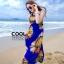 ผ้าคลุมชุดว่ายน้ำ ผ้าคลุมชายหาด ผ้าชายทะเล SH776 : ผ้าชีฟอง size 140x80 cm (มีสายคล้องแขน) thumbnail 1