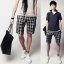 กางเกงผู้ชาย | กางเกงแฟชั่นผู้ชาย กางเกงขาสั้น ลายสก๊อต แฟชั่นเกาหลี thumbnail 1