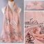 ผ้าพันคอลายโบว์ : Bow print scarf สีชมพู - ผ้าชีฟอง 160 x 45 cm thumbnail 5