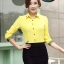 เสื้อเชิ้ตแฟชั่นผู้หญิงแขนยาว สีเหลือง thumbnail 1