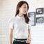 เสื้อเชิ้ตทำงานผู้หญิงแขนสั้น สีขาว thumbnail 2