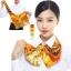 ผ้าพันคอสำเร็จรูป ผ้ายูนิฟอร์ม uniform ผ้าไหมซาติน : L53 thumbnail 1