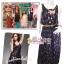 [งานHi-end เทรนด์ขนนกมีหลายสี] เทรนด์แรงกับMaxi Dress:DB971 ใหม่! ชุดแซก/แม๊กซี่เดรสแขนกุดผ้าชีฟองลายขนนกสุดฮิต สไตล์Chaps ติดกระดุมด้านหลังแบบสวยเก๋R thumbnail 2