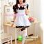 ชุดเมดเอี๊ยมขาวน่ารัก ชุดคอสเพลย์ ชุดแฟนซีอาชีพ ชุด maid ชุดแฟนซีน่ารัก ชุดแฟนซีญี่ปุ่น thumbnail 2