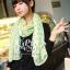 ผ้าพันคอลายจุด ขอบระบายลูกไม้ สีเขียว ผ้าพันคอ viscose - size 160x80 cm thumbnail 6