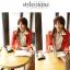 เสื้อเชิ้ตแฟชั่นทำงานผู้หญิงแขนยาวลูกไม้สีขาว ปกสีชมพูโอรส thumbnail 24