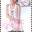[มีหลายสี] อก36-42#Bestseller# สาวอวบห้ามพลาด! LDB512::แบบสาวญี่ปุ่น Western Style เดรสสายผูกช่วงอกผูกไขว้ชายย้วยแต่งลูกไม้และผ้าลายดอกพื้นสีเอิร์ธโทน thumbnail 3