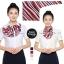 ผ้าพันคอสำเร็จรูป ผ้ายูนิฟอร์ม uniform ผ้าไหมซาติน : L230 thumbnail 1