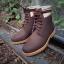 รองเท้าผู้ชาย | รองเท้าแฟชั่นชาย Brown Ankle Boot หนังนูบัคแท้ กันน้ำ thumbnail 1