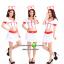ชุดพยาบาลสาวสีขาวขลิบแดง ชุดแฟนซีอาชีพ ชุดแฟนซีพยาบาล ชุดคอสเพลย์ ชุดแฟนซีอาชีพในฝัน thumbnail 2