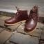 รองเท้าผู้ชาย | รองเท้าแฟชั่นชาย Brown Ankle Boots หนัง Oiled Pull Up thumbnail 1