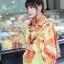 ผ้าพันคอแฟชั่น Retro Graphic : สีส้ม ผ้าชีฟอง size 150x50 cm thumbnail 6