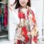 ผ้าพันคอแฟชั่นลายโซ่ Chiffon Chain : สีแดง : ผ้าพันคอ Silk Chiffon 160x60 cm thumbnail 1