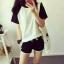 ส่ง:งานจีนเช็ท2ชิ้นแบบใส่สบาย/เสื้ออก36+กางเกงเอวยืดได้22-38 thumbnail 1