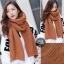 ผ้าพันคอไหมพรมถัก Knit Scarf - size 160x30 cm - สี Brown thumbnail 1