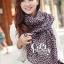ผ้าพันคอลายหัวใจ : Cute Little Heart ผ้าชีฟอง size 160x75 cm thumbnail 3