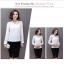 เสื้อทำงานผู้หญิงแขนยาวสีขาว เรียบดูดี ใส่สบาย thumbnail 3