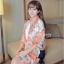 ผ้าพันคอแฟชั่นลายโซ่ Chiffon Coach : สีส้ม : ผ้าพันคอ Silk Chiffon - size 160x60 cm thumbnail 3