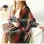 ผ้าพันคอ ผ้าคลุมพัชมีนา Pashmina scarf ลายตาราง size 200x60 cm - สี Dark Green thumbnail 2