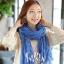 ผ้าพันคอแฟชั่น Cotton Candy : สี Royal Blue thumbnail 3