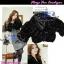 สไตล์สาวเกาหลี ลุคใสๆTB476 : Fur Cardigan Blink Korean: ใหม่! เสื้อคลุมตัวสั้นเฟอร์สีดำเก๋ลุคสาวเกาหลีน่าหยิก ผูกโบซาติน ด้านในบุอย่างดีด้วยซาติน thumbnail 1