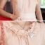 เสื้อทำงานผู้หญิงแขนสั้น ผ้าชีฟอง สีชมพู thumbnail 6