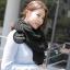 ผ้าพันคอไหมพรมถัก Knit Scarf - size 160x30 cm - สี Black thumbnail 7