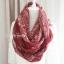 ผ้าพันคอลายกวาง Deer Scarf : สีแดง ผ้า viscose size 180x80 cm thumbnail 6