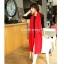 ผ้าพันคอไหมพรม ผ้า cashmere scarf size 180x30 cm - สี red thumbnail 10