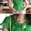 เสื้อทำงานผู้หญิงแขนสั้น ผ้าชีฟอง สีเขียว thumbnail 10