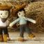แพทเทิร์นตุ๊กตาถักคันทรี่บอย คันทรี่เกิร์ล (Country Couple) thumbnail 3