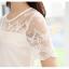 เสื้อลูกไม้แขนสั้นน่ารักๆ สีขาว thumbnail 8