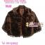 สไตล์สาวเกาหลี TB600 :Gorgeous Fur Trend:เสื้อคลุมเฟอร์ปีกค้างคาวสุดหรูเพิ่มความหรูที่ชาย ลุคสาวเกาหลี ด้านในซับอย่างดีด้วยซาติน สีน้ำตาลคลาสสิก thumbnail 1