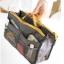 [มีหลายสี พร้อมส่ง] BAG100 ใหม่! Dual Bag in Bag กระเป๋าจัดระเบียบ สองซิป มีช่องแยกหลายช่อง ช่องซิปใส่ Tablet มือถือได้ มีหูหิ้ว thumbnail 6