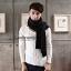 ผ้าพันคอผู้ชาย Man scarf ผ้า cashmere 180x30 cm - สี Black thumbnail 6